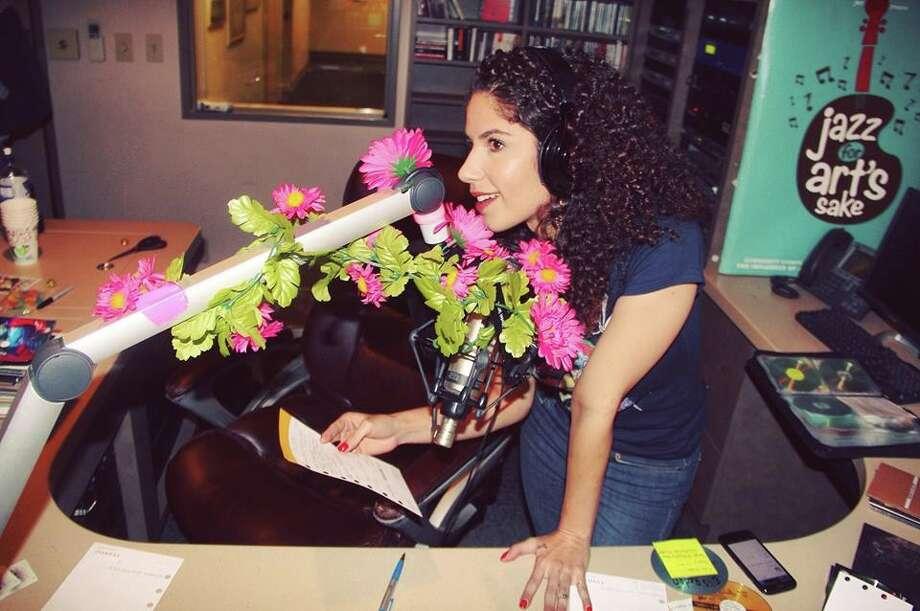 "Jeanette Muñiz hosts ""Live & Local"" on KRTU-FM, the Trinity University station. She is also a singer-songwriter. Photo: Courtesy Wayne Holtz"