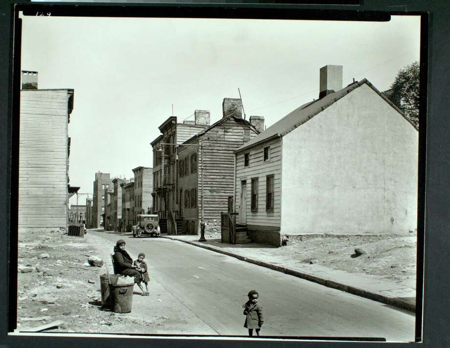 Talman Street, between Jay and Bridge street, Brooklyn Photo: Berenice Abbott,  NYPL Federal Art Project / Connecticut Post contributed