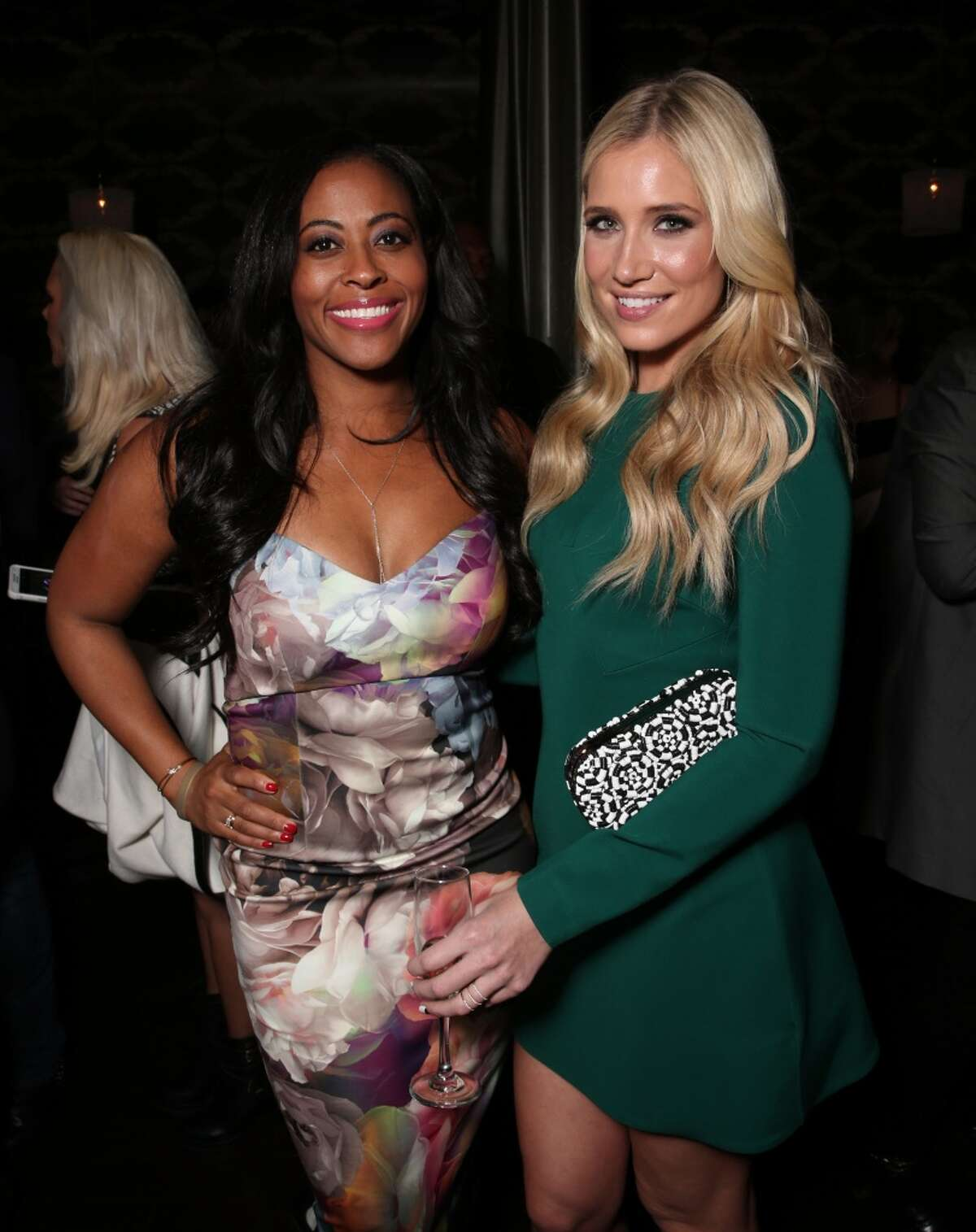 TV personality Kristine Leahy (R) attends DailyMail's after party for 2016 People's Choice Awards at Club Nokia on Jan. 6, 2016 in Los Angeles, Calif.