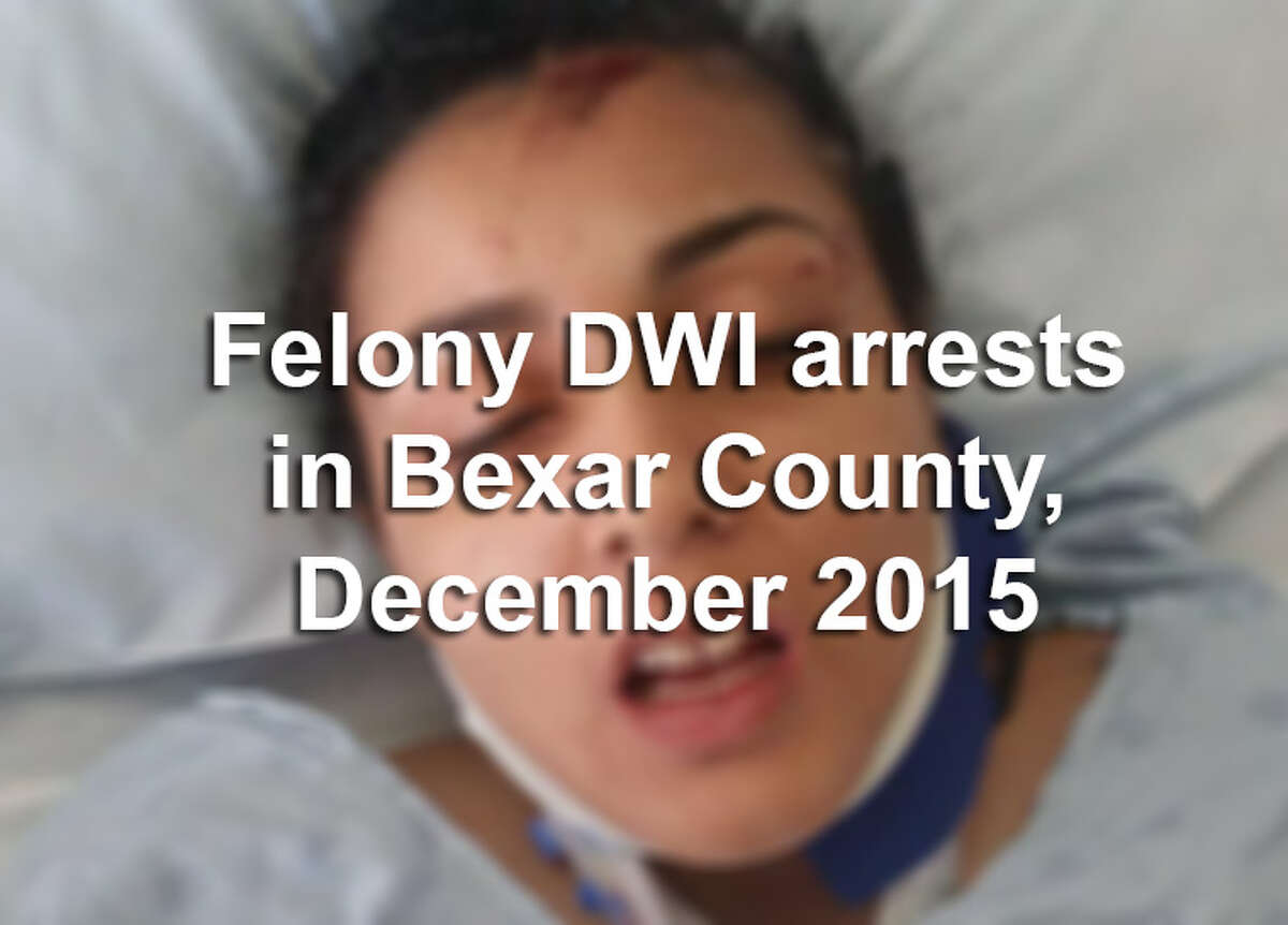 Scroll through the slideshow to see booking photos for all 60 suspects arrested on felony drunken driving charges in Bexar County during December 2015.