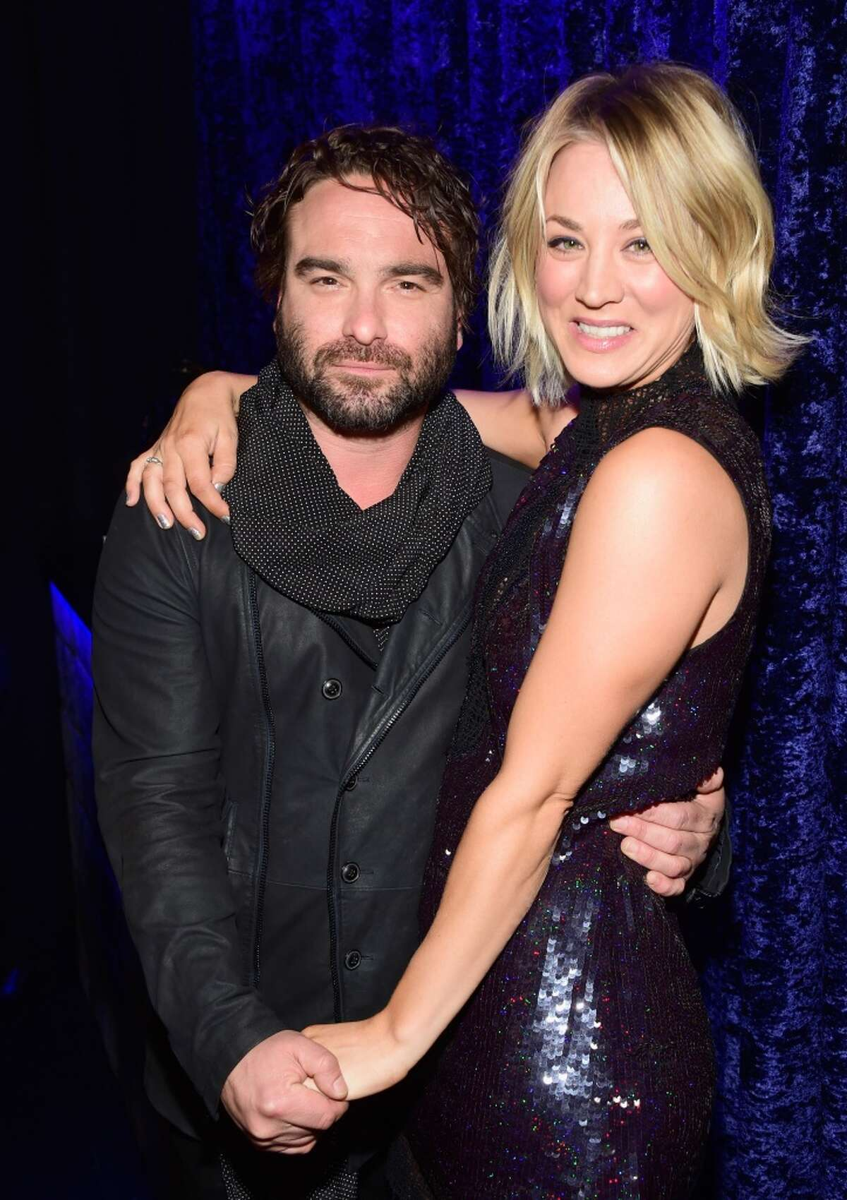 Actor Johnny Galecki (L) and actress Kaley Cuoco attend the People's Choice Awards 2016 at Microsoft Theater on Jan. 6, 2016 in Los Angeles, Calif.
