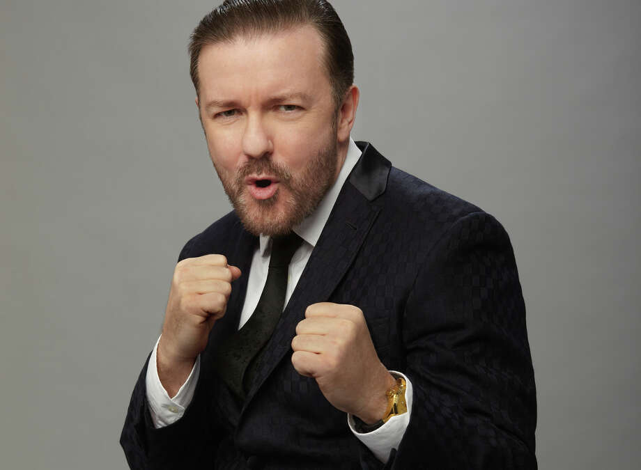 This might hurt: Ricky Gervais is ready to jab again as host of the Golden Globe Awards on NBC. Photo: Courtesy /NBC / 2015 NBCUniversal Media, LLC