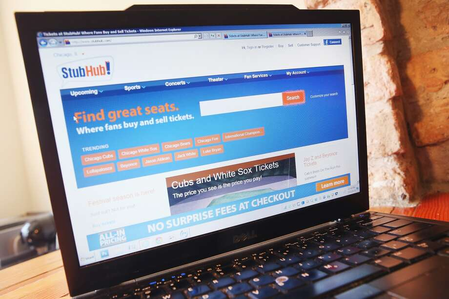 Tickets are offered for sale through StubHub on July 23, 2014 in Chicago, Illinois. Cyber thieves recently hacked into about 1,000 StubHub customers' accounts and fraudulently bought tickets for events. (Photo Illustration by Scott Olson/Getty Images)