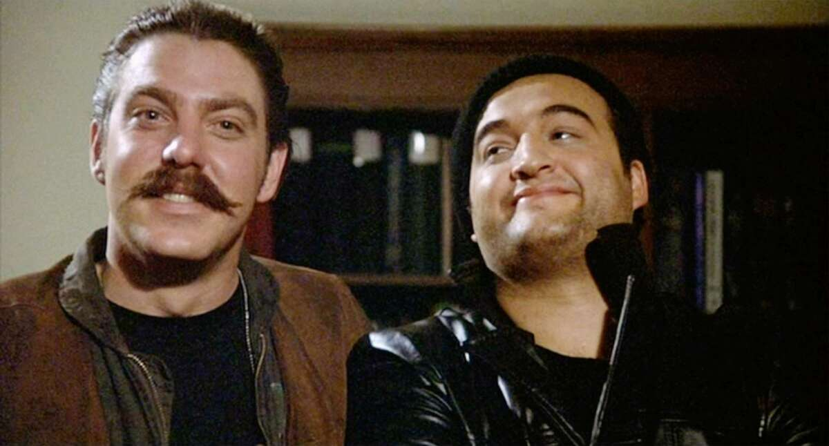 Bruce McGill and Jim Belushi in 'Animal House,' the S.A. native's first big film.