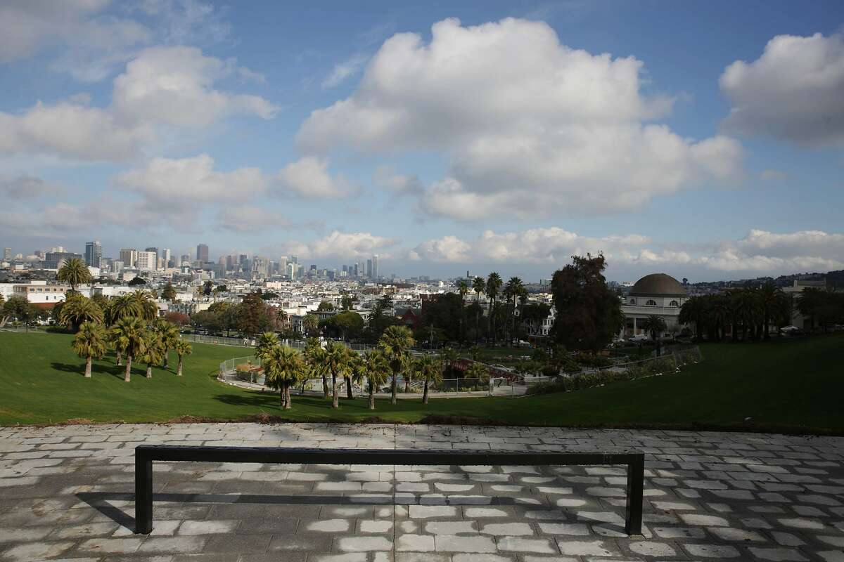 The 20th and Church Overlook and view is seen during the renovation on the south side of Dolores Park on Thursday, January 7, 2015 in San Francisco, Calif.