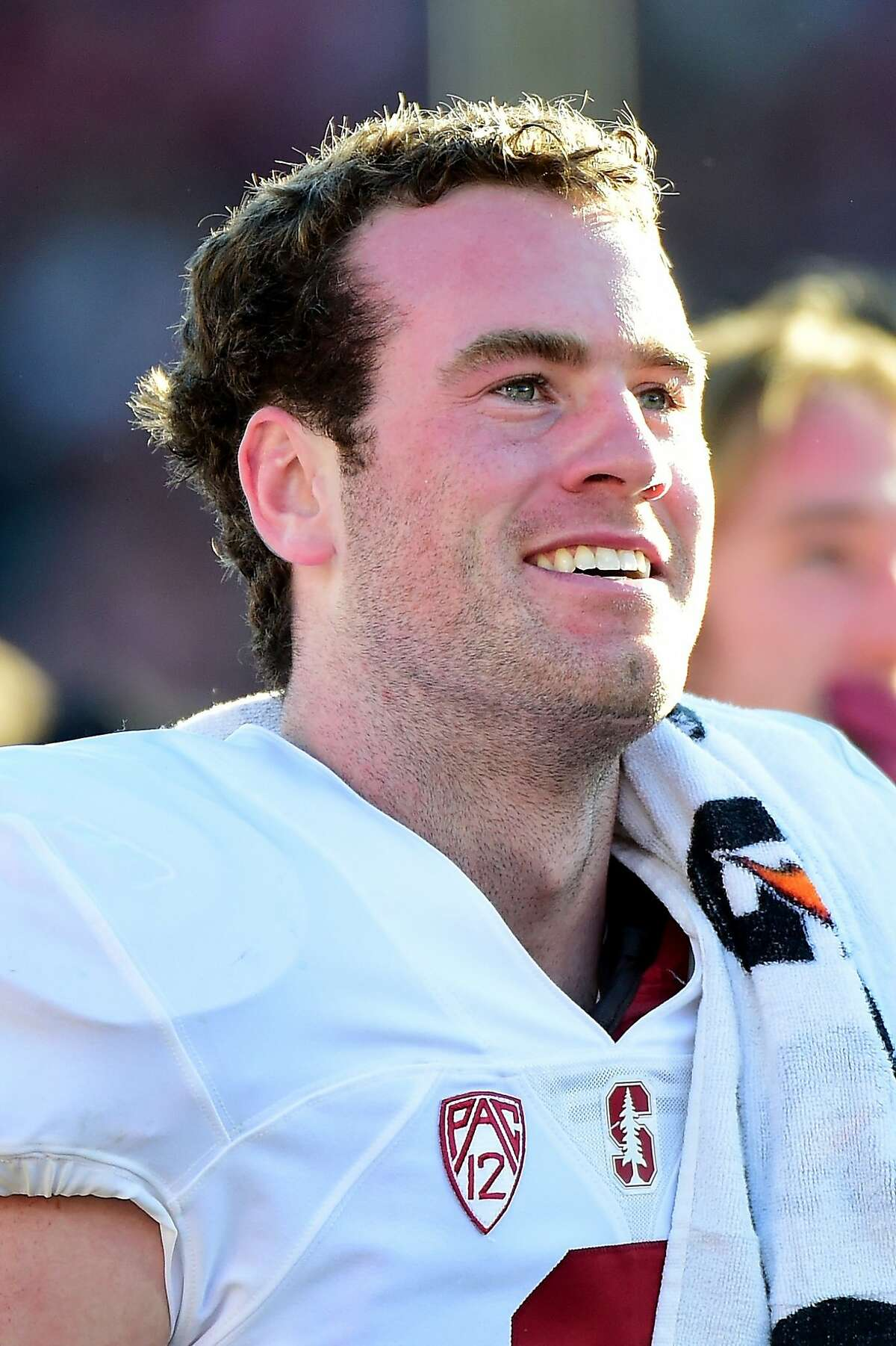 Kevin Hogan was all smiles after the Rose Bowl.