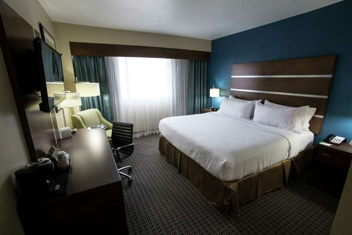 A king room at the new Holiday Inn hotel in the 1600 block of main downtown is shown on Wednesday, Jan. 6, 2016, in Houston. ( Brett Coomer / Houston Chronicle )