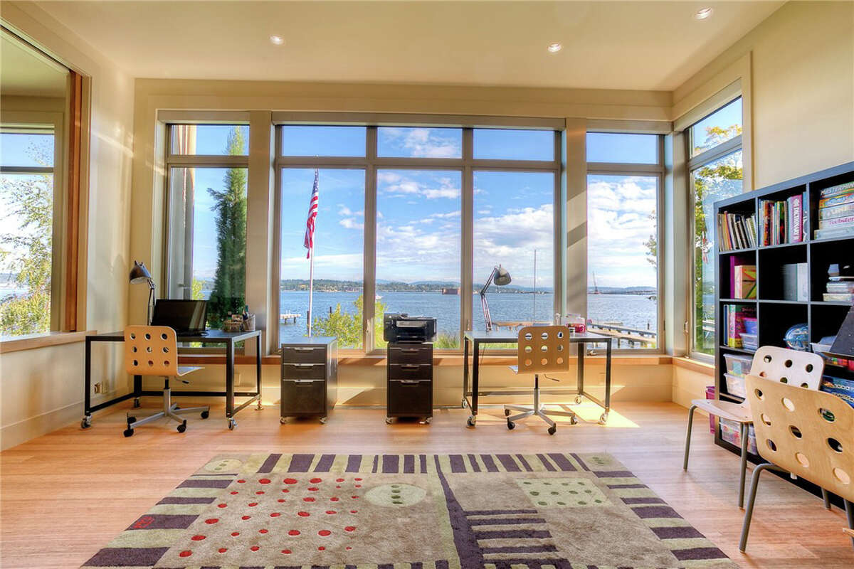 It's a large lake home in an exclusive Seattle neighborhood. And the price is $13.25 million.