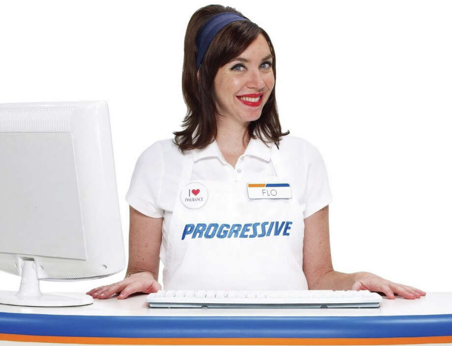 """Flo"" from the Progress Insurance commercials is played by Stephanie Courtney, a 46-year-old comedian who was a main company member of the famed Groundlings Theater in Los angeles."