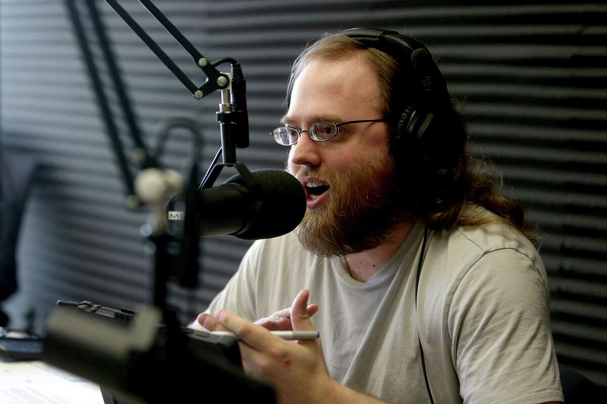 """Paul Louden, 32, of Spring, an autism advocate, hosts a weekly radio show, """"Theories of Mind,"""" on KTEK 1110 AM."""