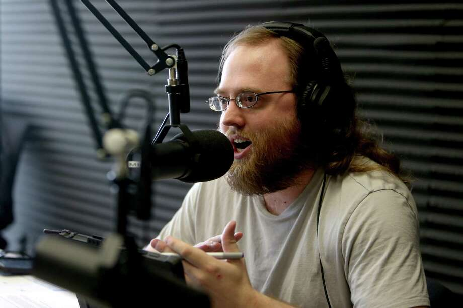 "Paul Louden, 32, of Spring, an autism advocate, hosts a weekly radio show, ""Theories of Mind,"" on KTEK 1110 AM.  Photo: Gary Coronado, Staff / © 2015 Houston Chronicle"