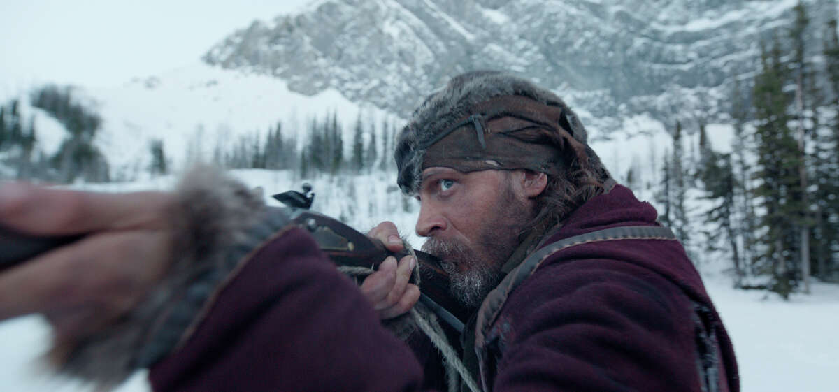"""This photo provided by Twentieth Century Fox shows Tom Hardy in a scene from the film, """"The Revenant."""" The movie opens in U.S. theaters on Jan. 8."""