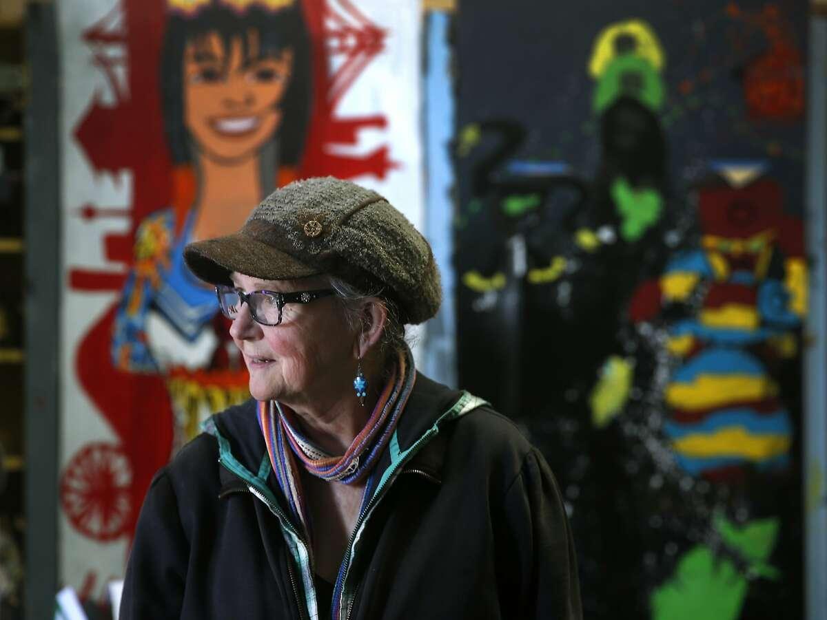 Precita Eyes founder Susan Cervantes is seen at the group's longtime studio in San Francisco, Calif. on Thursday, Jan. 7, 2016.
