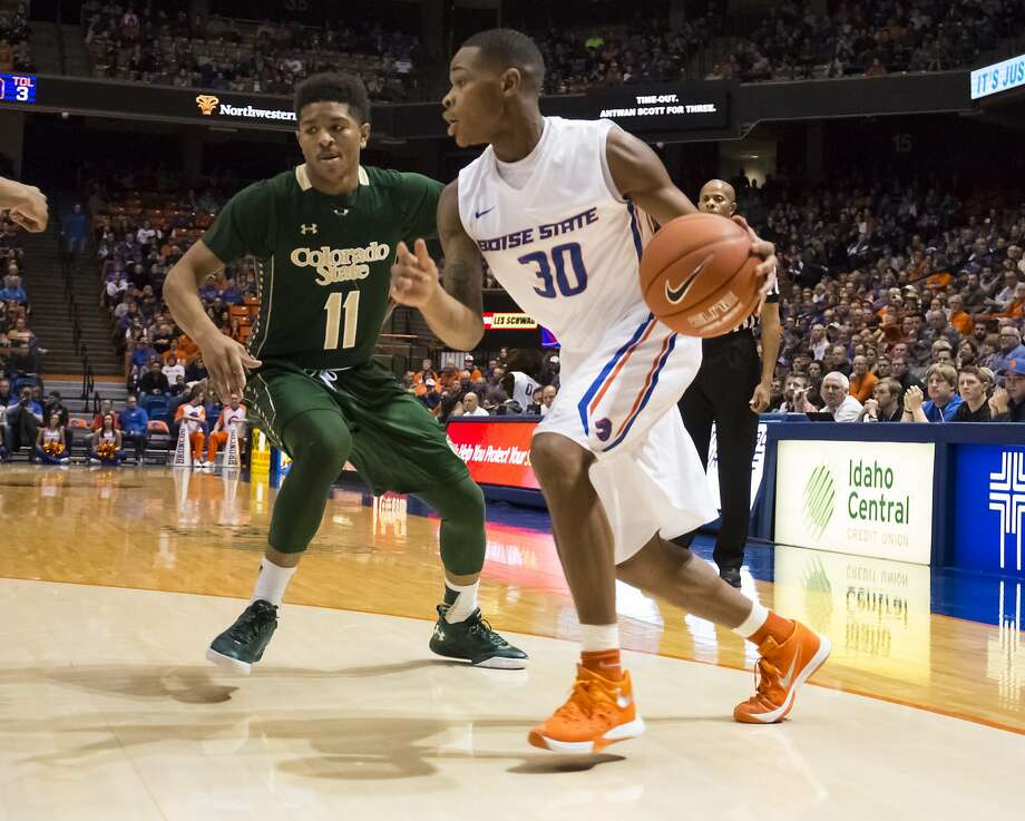 Bishop O'Dowd alum Paris Austin is averaging 4.1 points for Boise State this season. Photo: Otto Kitsinger, Associated Press