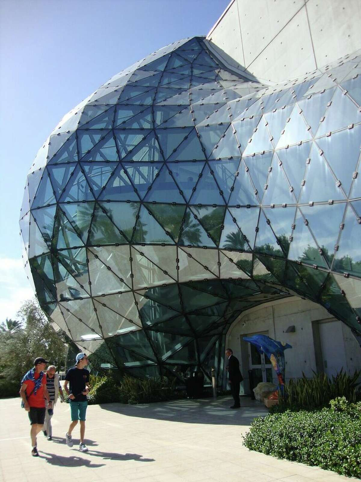 Spend time checking out the exterior and grounds of the Dali Museum in St. Pete.