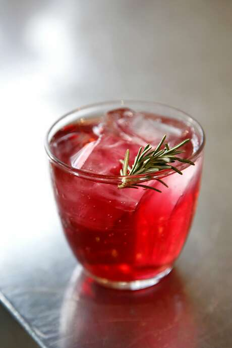 A blueberry shrub from the Fermentation Bar. Photo: Preston Gannaway, Special To The Chronicle