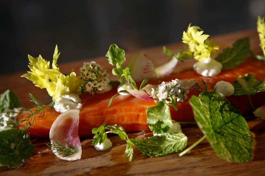Wild salmon tartare at Shed Cafe in Healdsburg. Photo: Preston Gannaway, Special To The Chronicle