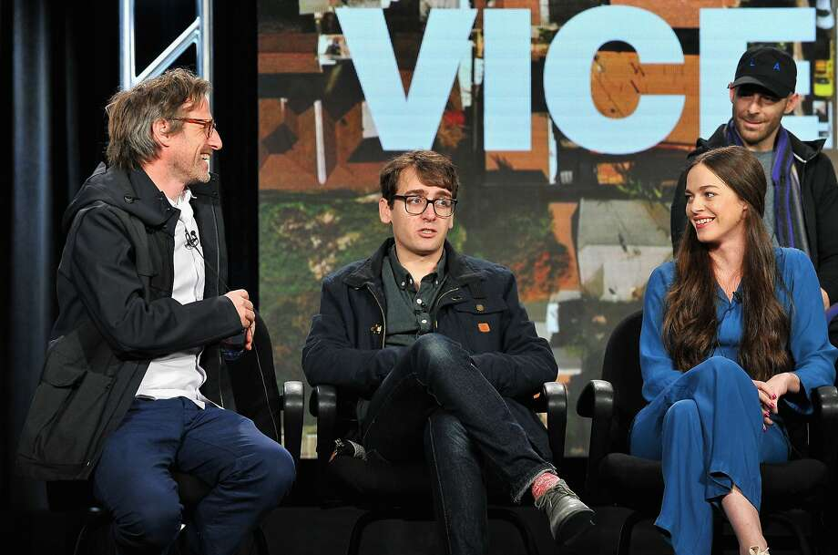 PASADENA, CA - JANUARY 06:  (L-R) Creative Director of Viceland, Spike Jonze, Thomas Morton of Balls Deep and Hailey Gates attend the Viceland panel at the A+E Networks 2016 Television Critics Association Press Tour at The Langham Huntington Hotel and Spa on January 6, 2016 in Pasadena, California.  (Photo by Jerod Harris/Getty Images for A+E Networks) Photo: Jerod Harris, Getty Images For A+E Networks