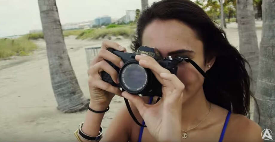 A Canon T50 camera in a still taken from the video.