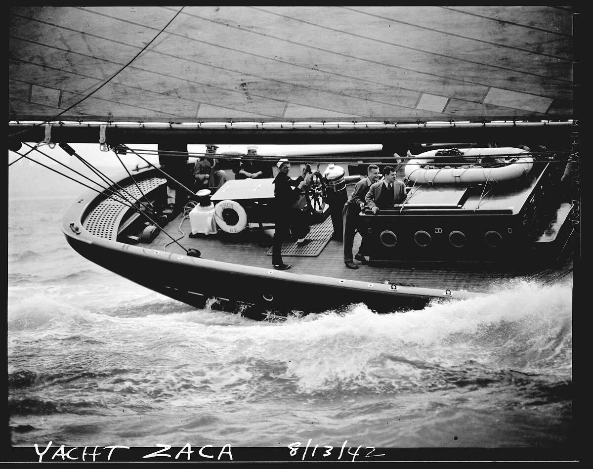 ZACA1-13AUG42-MN-BC - The Zaca Yacht was called to active duty during WWII. Photo by Bob Campbell. TRANS-SHIPS-ZACA