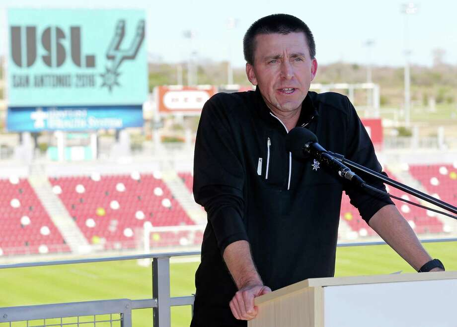 Darren Powell will coach San Antonio's yet-to-be-named United Soccer League team when it debuts in March. The former director of Orlando City's academies was introduced Thursday. Photo: Edward A. Ornelas / San Antonio Express-News / © 2016 San Antonio Express-News