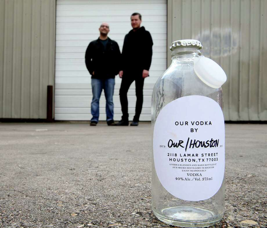 Omar Afra, left, and Dutch Small stand at the future location of Our/Vodka in Houston  on Thursday, Jan. 7, 2016. Photo: Elizabeth Conley, Houston Chronicle / © 2016 Houston Chronicle