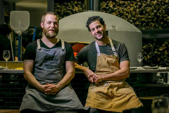 Chefs Jon Darsky, right, and Jeffrey Hayden at Del Popolo in San Francisco, Calif., are seen on January 7th, 2016.