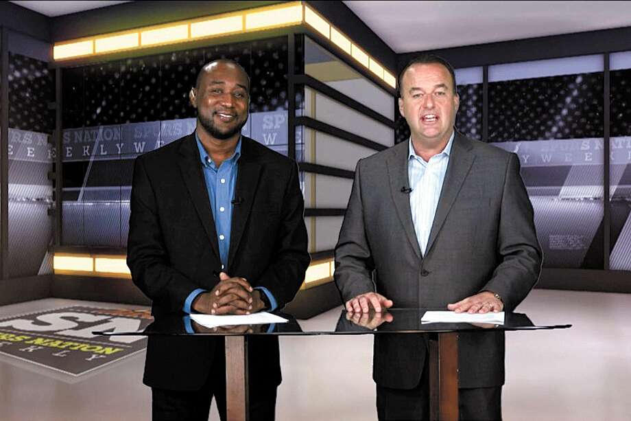 """Hosts Jabari Young and Don Harris will talk Spurs every Sunday at 11 p.m. on """"Spurs Nation,"""" a new show about the Silver and Black from the San Antonio Express-News and WOAI-TV. Photo: San Antonio Express-News"""