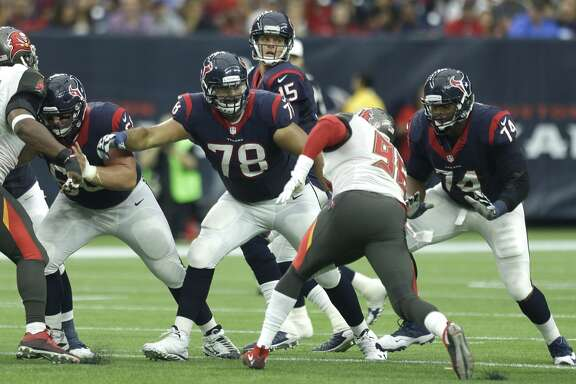 WHAT TO WATCH: Texans' offensive line must excel without Duane Brown    The Chiefs recorded 47 sacks, including at least five by four players. Their pass rush comes from all angles. They also allowed 98.1 yards rushing, including 4.1 a carry. The Texans' offensive line is playing without injured left tackle Duane Brown. Chris Clark, who knows the Chiefs' defense better than any player on his team after playing his first five seasons with Denver, played well against Jacksonville. Now he has to play better. The key player on the line is right tackle Derek Newton because he blocks the Chiefs' best pass rusher, outside linebacker Justin Houston. He's healthy and ready to abuse Newton if he can. Newton will need help. The linemen must do a good job of run blocking to help keep the Chiefs on their heels rather than their toes.