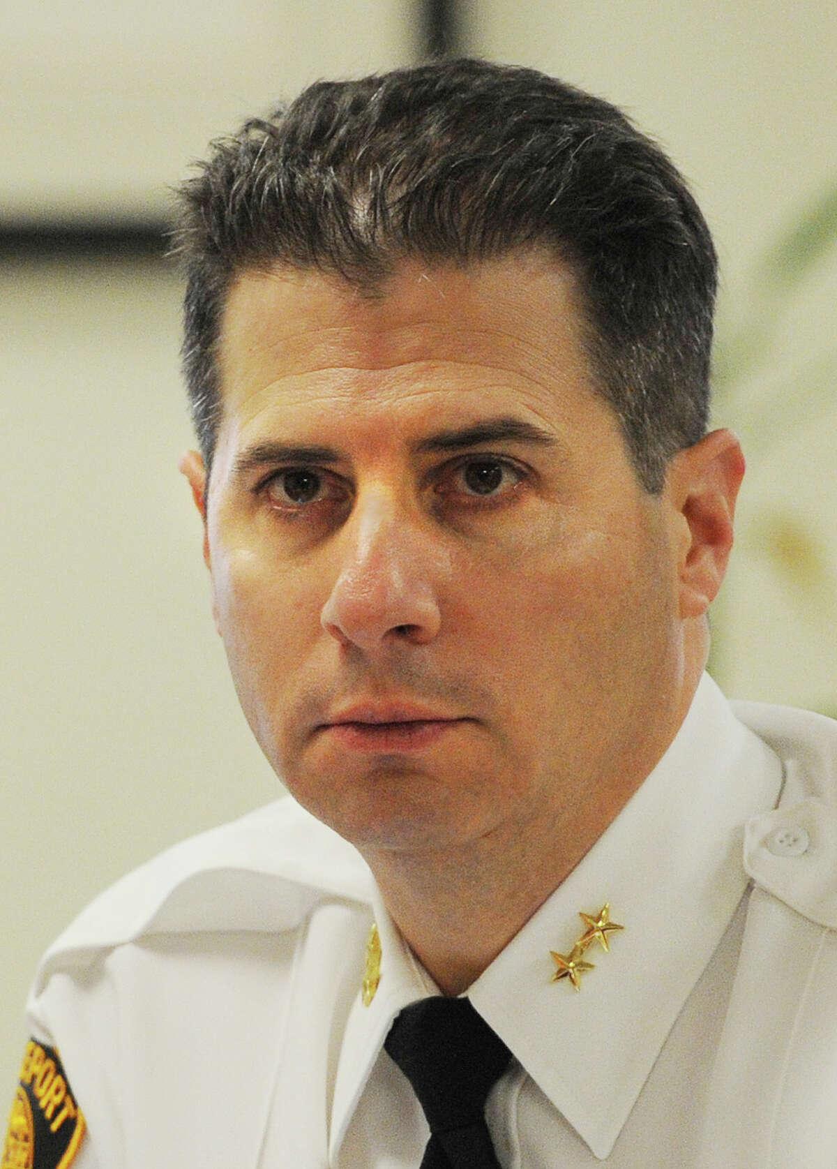 Bridgeport Assistant Police Chief James Nardozzi's $123,420 position has been eliminated by Mayor Joe Ganim.
