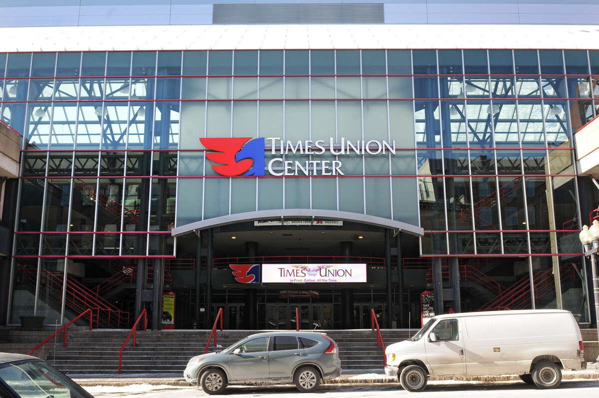 Exterior of the Times Union Center on North Pearl Street on Thursday Jan. 24, 2013 in Albany, N.Y. The arena boosted operating profit 64 percent last year despite hosting marginally fewer events than in 2011, officials announced Thursday. (Lori Van Buren / Times Union)