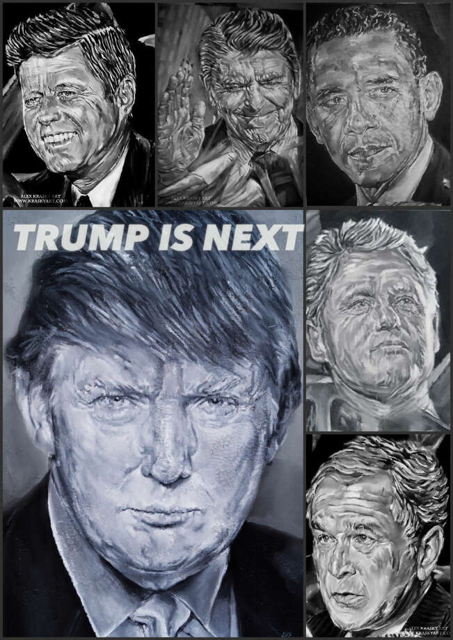 A Houston-based artist really wants to see Republican presidential hopeful Donald Trump succeed in 2016 so he's begun his own art campaign.  Photo: Alex Krasky