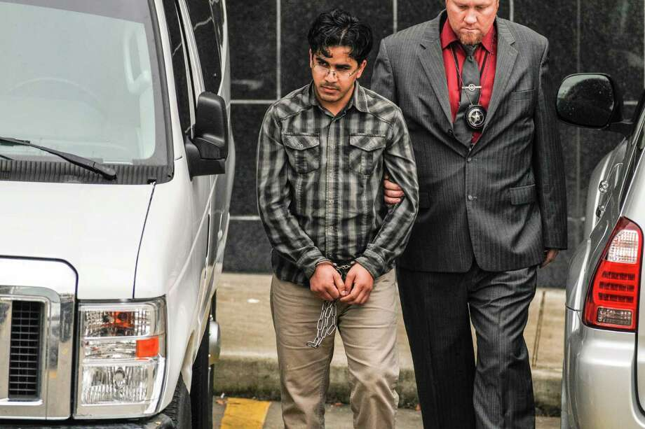 Omar Faraj Saeed Al Hardan appeared in federal court in Houston on Friday, Jan. 8, 2015. Al Hardan is accused of providing material support to a foreign terrorist organization, providing false information to obtain citizenship and making false statements to U.S. officials. Photo: Steve Gonzales ,  Houston Chronicle