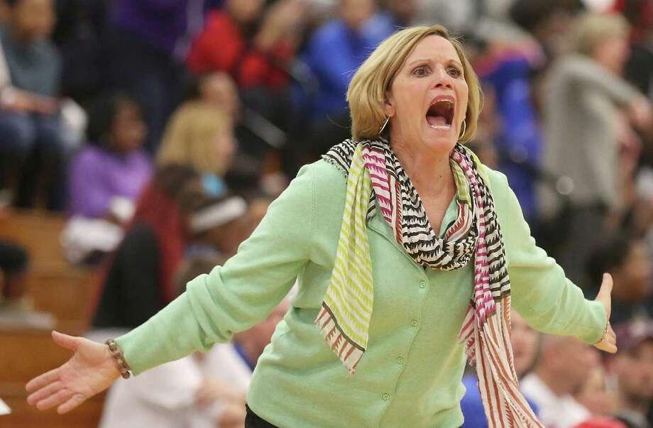 Cy-Fair girls basketball coach Ann Roubique earned her 600th career victory Jan. 8. Photo: Thomas B. Shea, Freelance / © 2014 Thomas B. Shea