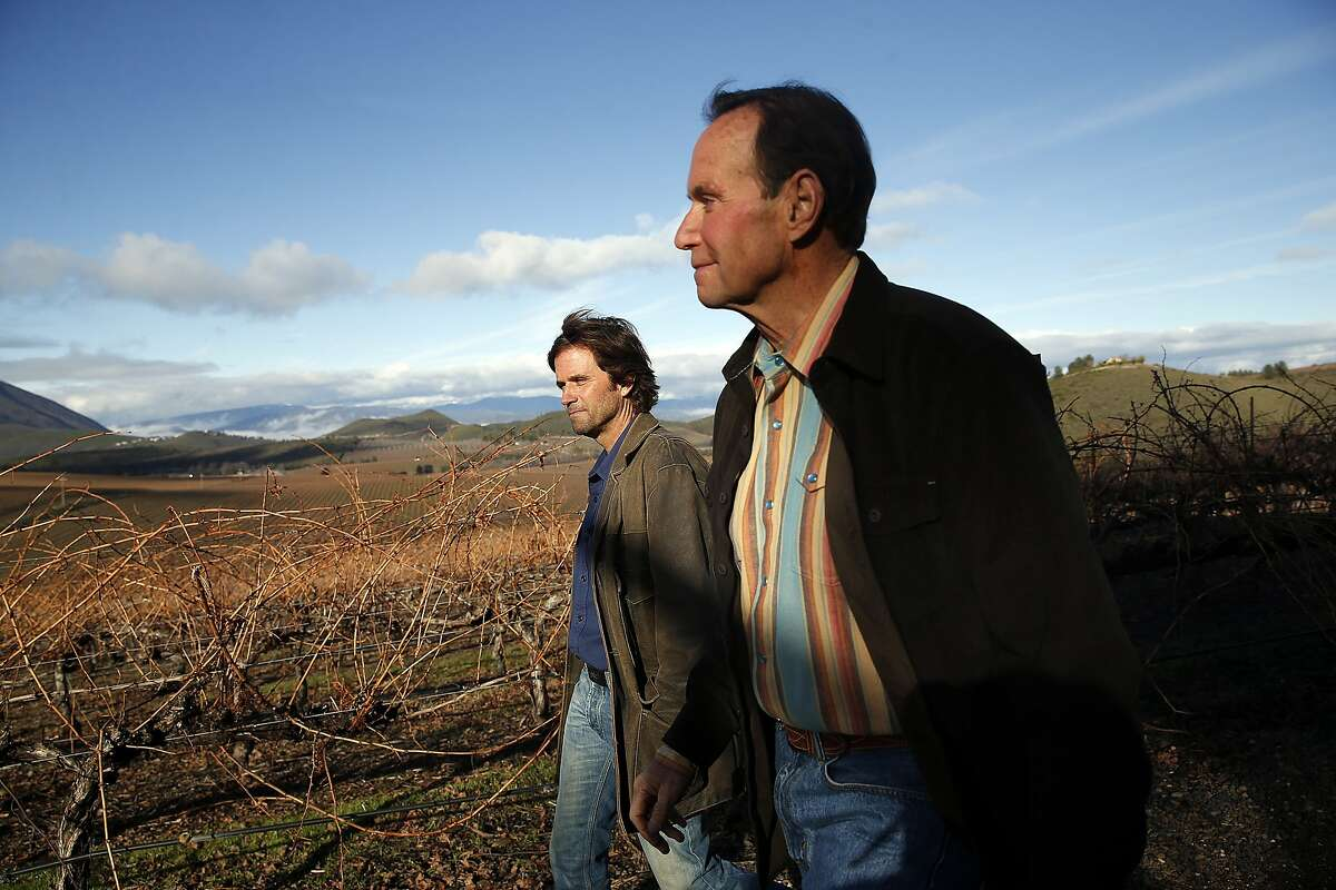 Andy (right) and David Beckstoffer at Amber Knolls Vineyard in Seigler Springs, Calif., on Thursday, January 7, 2016.