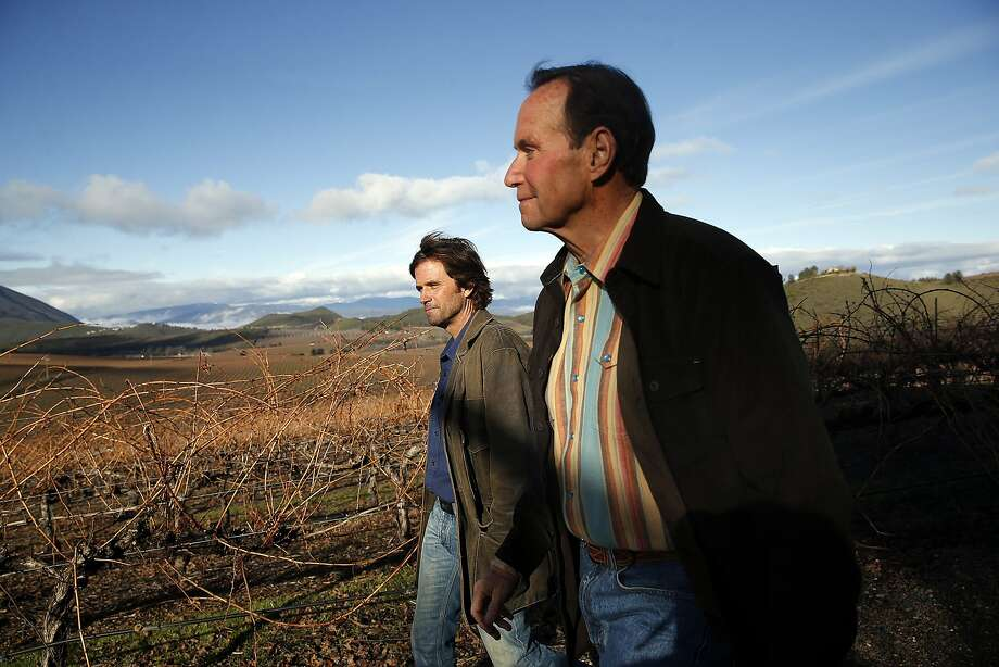 Andy (right) and David Beckstoffer at Amber Knolls Vineyard in Seigler Springs, Calif., on Thursday, January 7, 2016. Photo: Scott Strazzante, The Chronicle