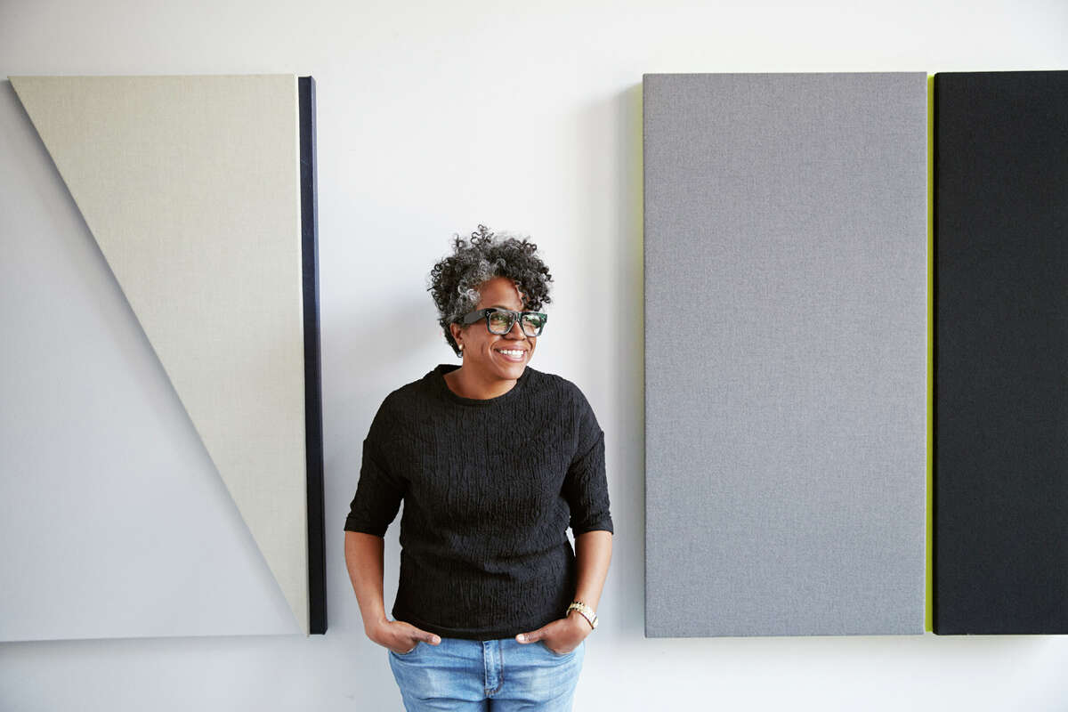 """Jennie C. Jones' midcareer survey show, """"Compilation,"""" is on view at the Contemporary Arts Museum Houston through March 27."""