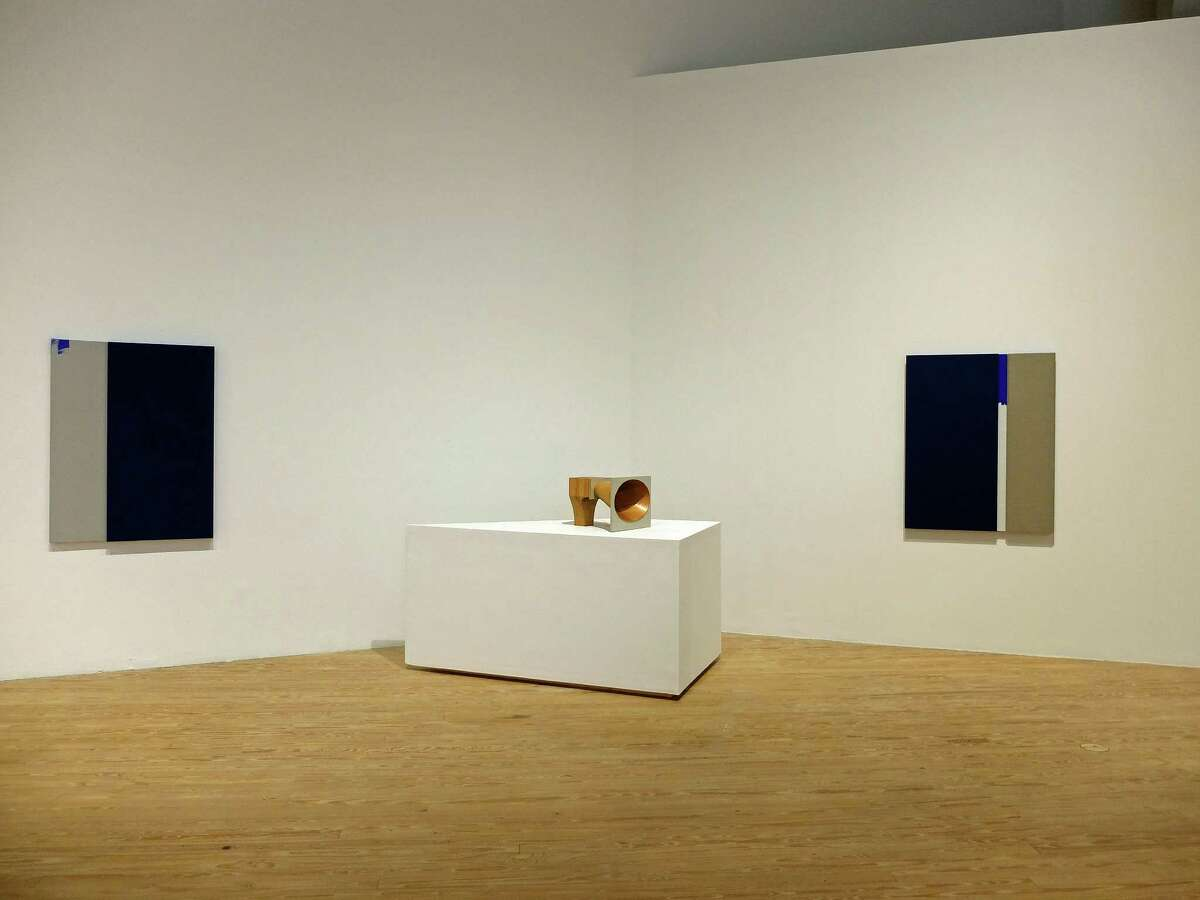 """Minimalist sculpture and paintings by Jennie C. Jones have plenty of plenty of space at the Contemporary Arts Museum Houston in the artist's mid-career survey, """"Compilation,"""" on view through March 27."""