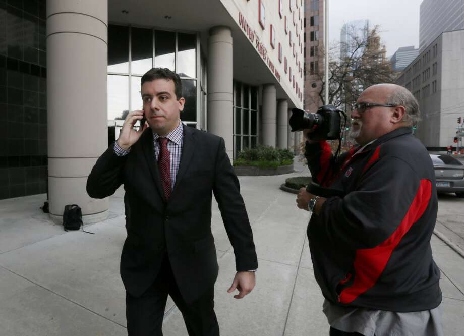 Christopher Correa leaves the Bob Case United States Courthouse at 515 Rusk St., Friday, Jan. 8, 2016, in Houston. Correa plead guilty to five counts of unauthorized access to computer information. ( Jon Shapley / Houston Chronicle ) Photo: Houston Chronicle