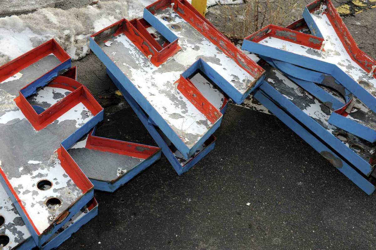 Letters removed from the Bob & Ron's Fish Fry sign on Central Avenue Friday Jan. 8, 2016 in Albany, N.Y. (Michael P. Farrell/Times Union)
