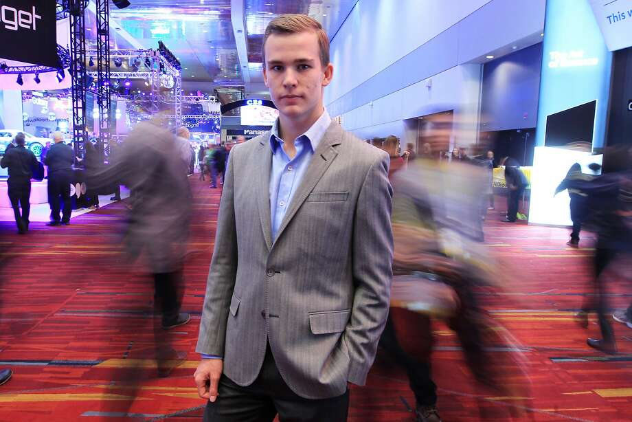 Meet Kai Kloepner of Ægen Technologies, who is developing a firearm that utilizes a biometric scanner lock, is seen during CES at the Las Vegas Convention Center Friday, Jan. 8, 2016, in Las Vegas. Sam Morris, Special to The Chronicle Photo: Sam Morris, Special To The Chronicle