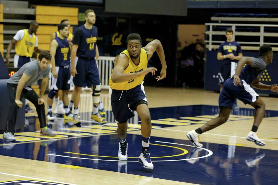 Sophomore center Kingsley Okoroh runs a drill during Cal Bears men's basketball practice in Berkeley, California, on Wednesday, Oct. 7, 2015. Photo: Connor Radnovich / The Chronicle / ONLINE_YES