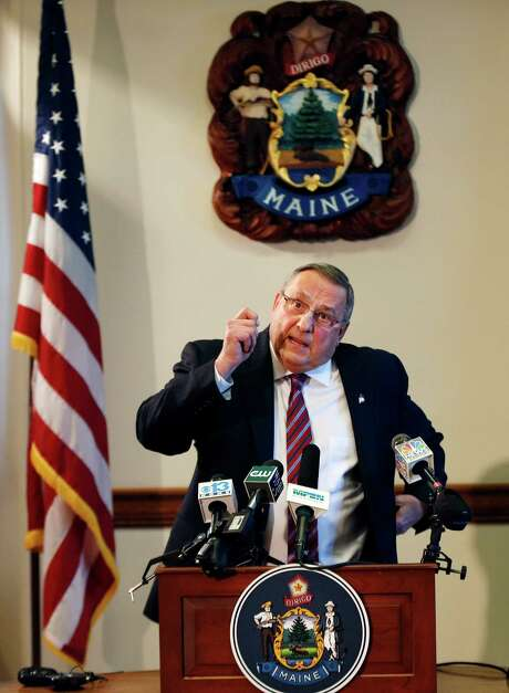 Gov. Paul LePage sais his remark Wednesday was a slip of the tongue. Photo: Robert F. Bukaty / Associated Press / AP