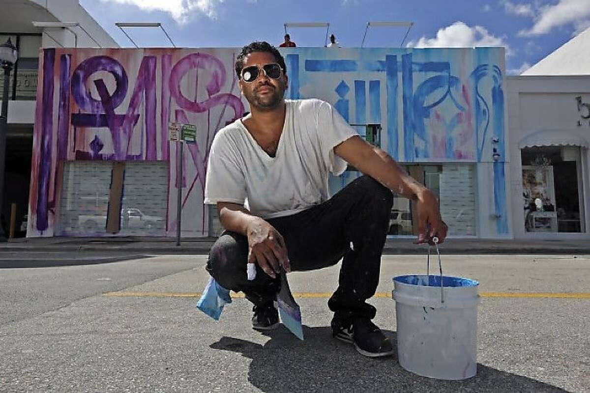 Graffiti artist Retna