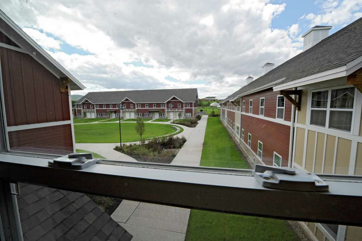 View from a window in SUNY Cobleskill's new, apartment-style housing complex, Alumni Commons on Wednesday, Sept. 17, 2014, in Cobleskill, N.Y. (Lori Van Buren / Times Union archive)