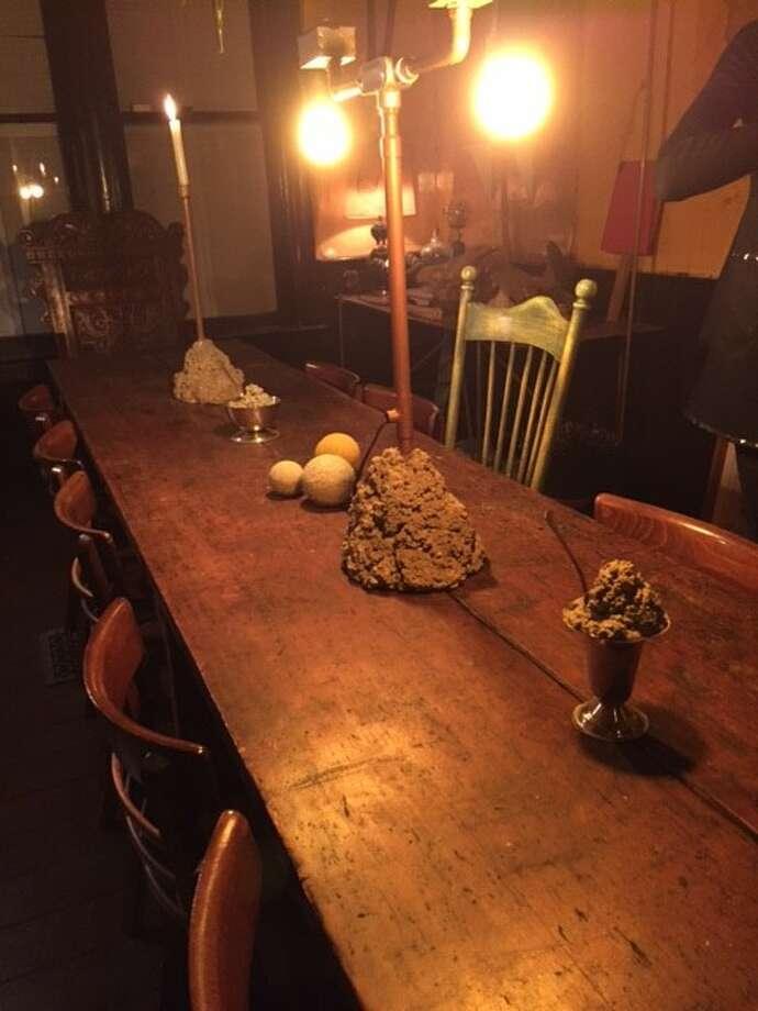 David Ireland's dining room table, in David Ireland House