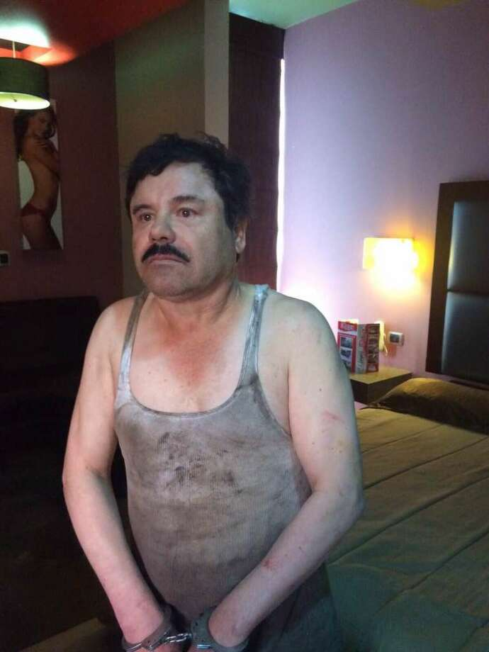 """Joaquín """"El Chapo"""" Guzmán Loera was re-captured for the third time by Mexican Marines on Friday, Jan. 8, 2016. Photo: ElBlogDelNarco.com"""