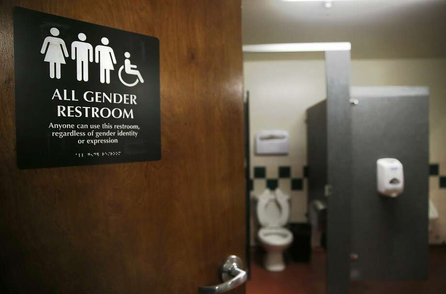 Multiple toilets at SOMArts Cultural Center have all gender restroom access in San Francisco, California, on Friday,  January 8, 2015.  Next Tuesday supervisor David Campos will introduce legislation that requires the city to make all single-room bathrooms gender neutral as well. Photo: Liz Hafalia, The Chronicle
