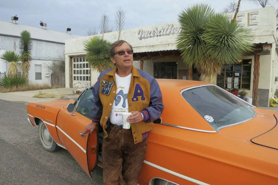 Retired airline pilot Guilford Jones stays on the ground these days in his 1969 Plymouth Satellite, which the former Houstonian has named Mad Man. Photo: Joe Holley / Houston Chronicle