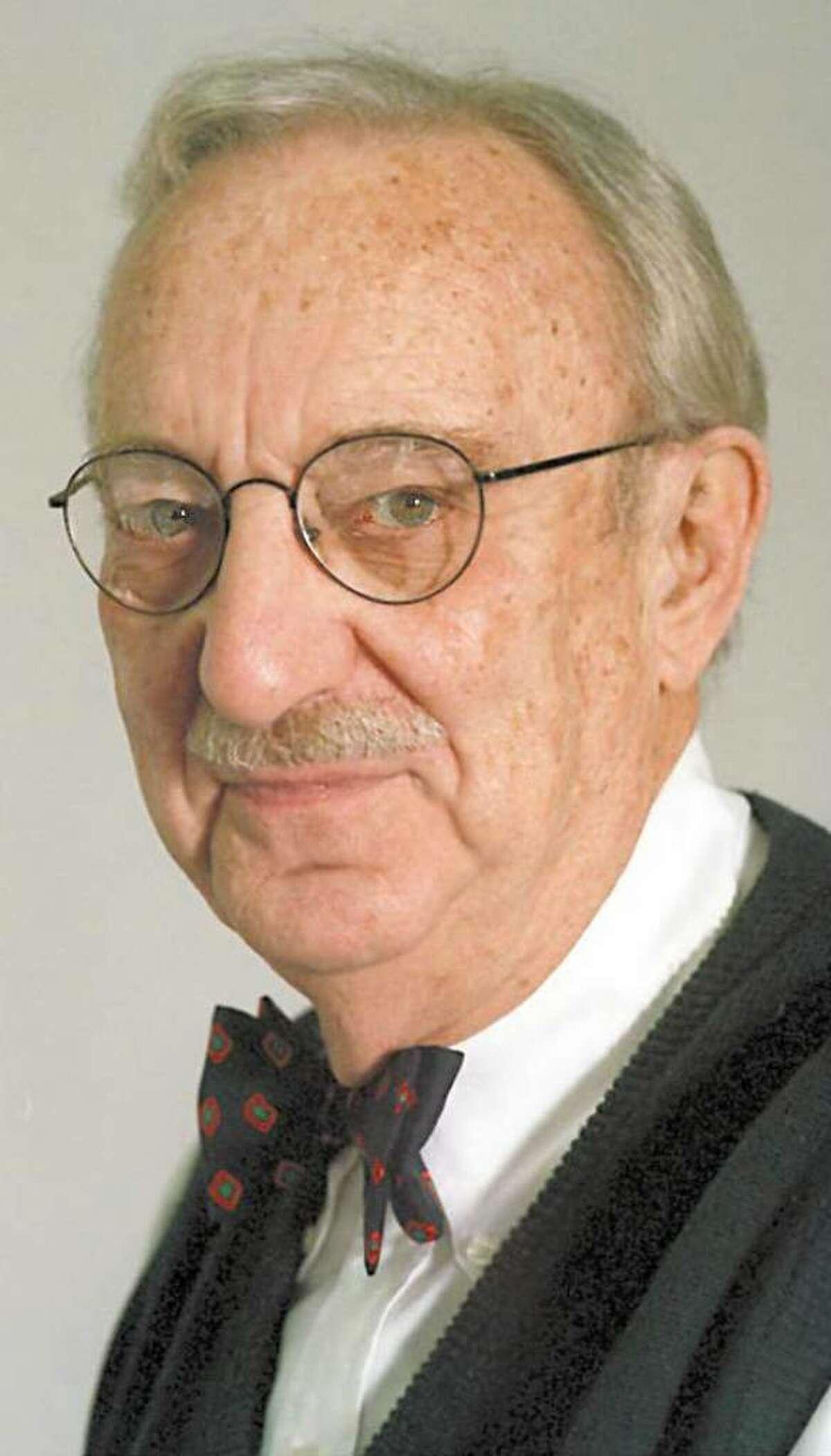 Bernie Yudain in 1996. Yudain, a treasured Greenwich newspaperman and community fixture, died Saturday.